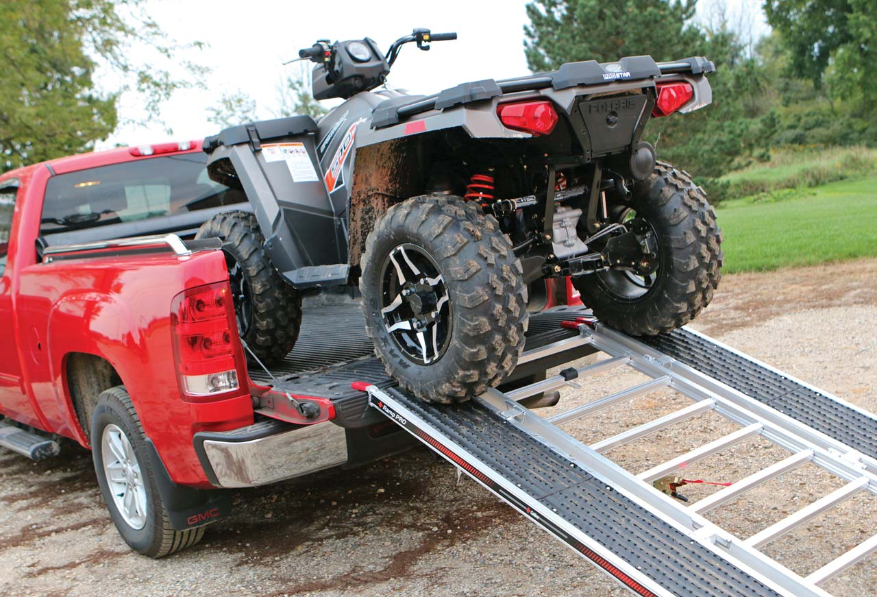 ... to prevent any bumps while loading or unloading, if you have doubts,  you might want to go for one of the ATV arched ramps for better clearance.
