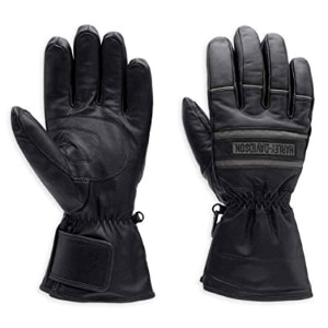 Leather Gloves Full Finger Mens Motorcycle Driving Winter Warm Touch Screen LN
