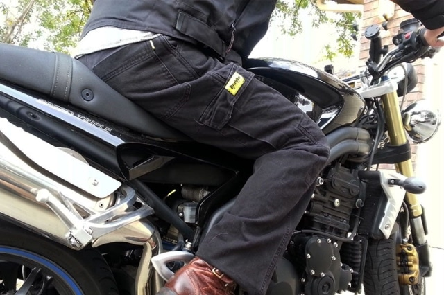 WICKED STOCK Mens WaterProof Motorcycle Riding Protective Pants CE Level-1 Armor X-Large